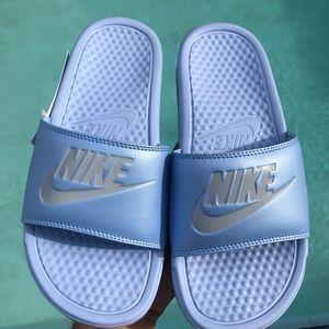 discount shop best online official shop Women's Nike 'Baby Blue' Slides NWT
